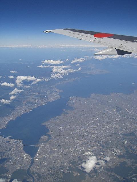 滋賀県上空